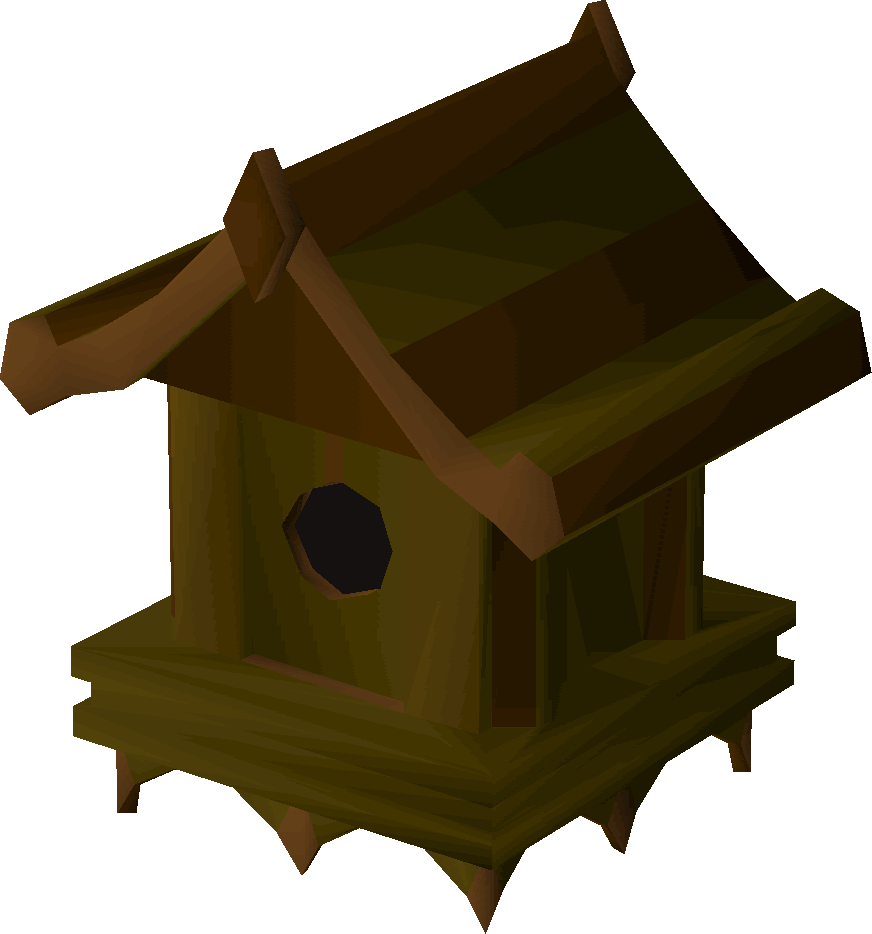 Yew bird house