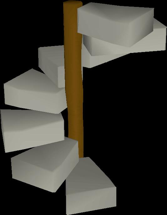 Limestone spiral staircase