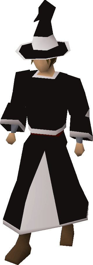 Black trimmed wizard robes