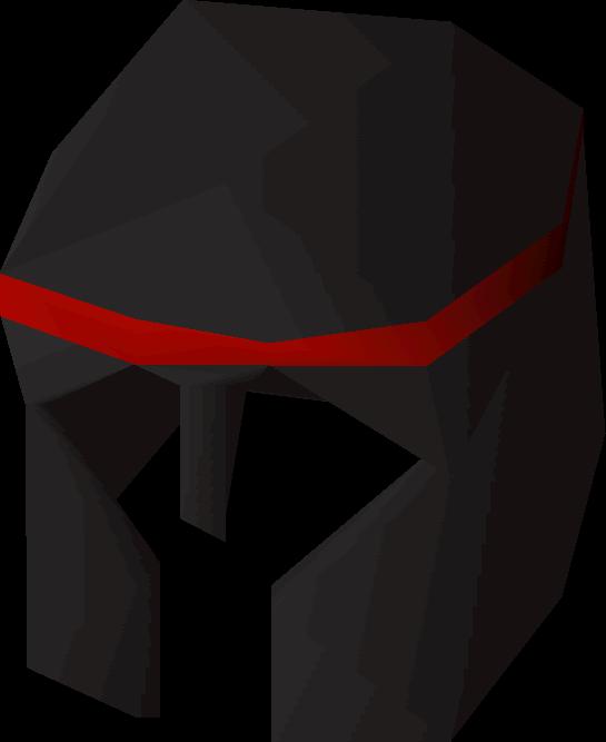 Black med helm