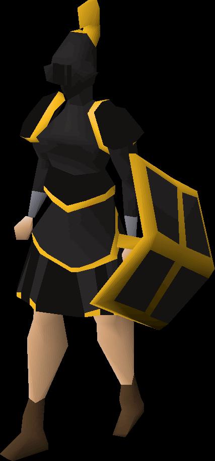 Black gold-trimmed set (sk)