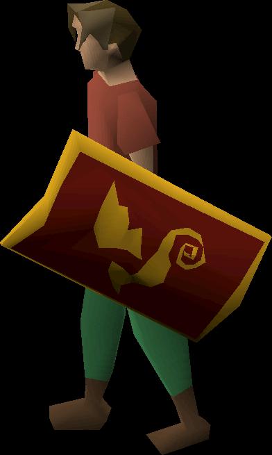 Dragon sq shield (g)