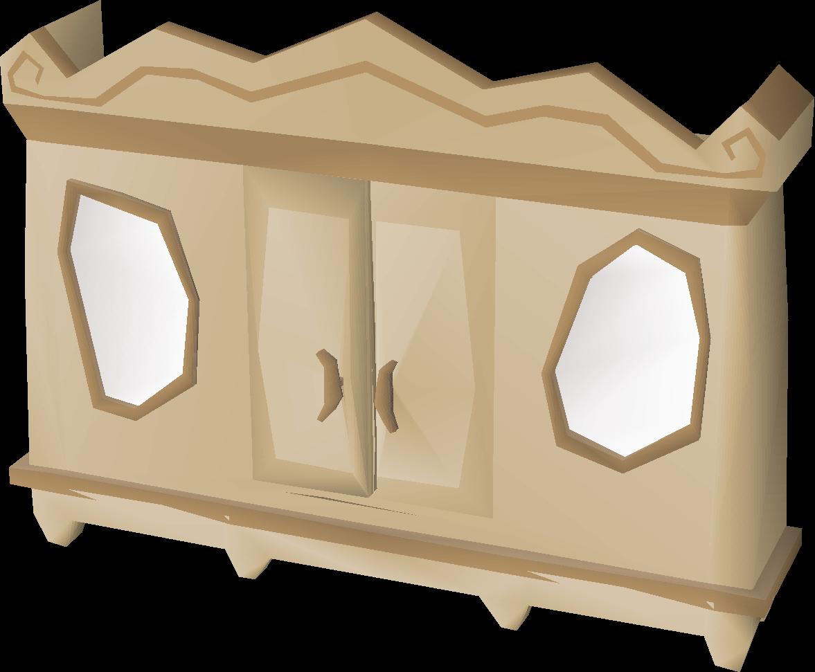 Carved oak magic wardrobe