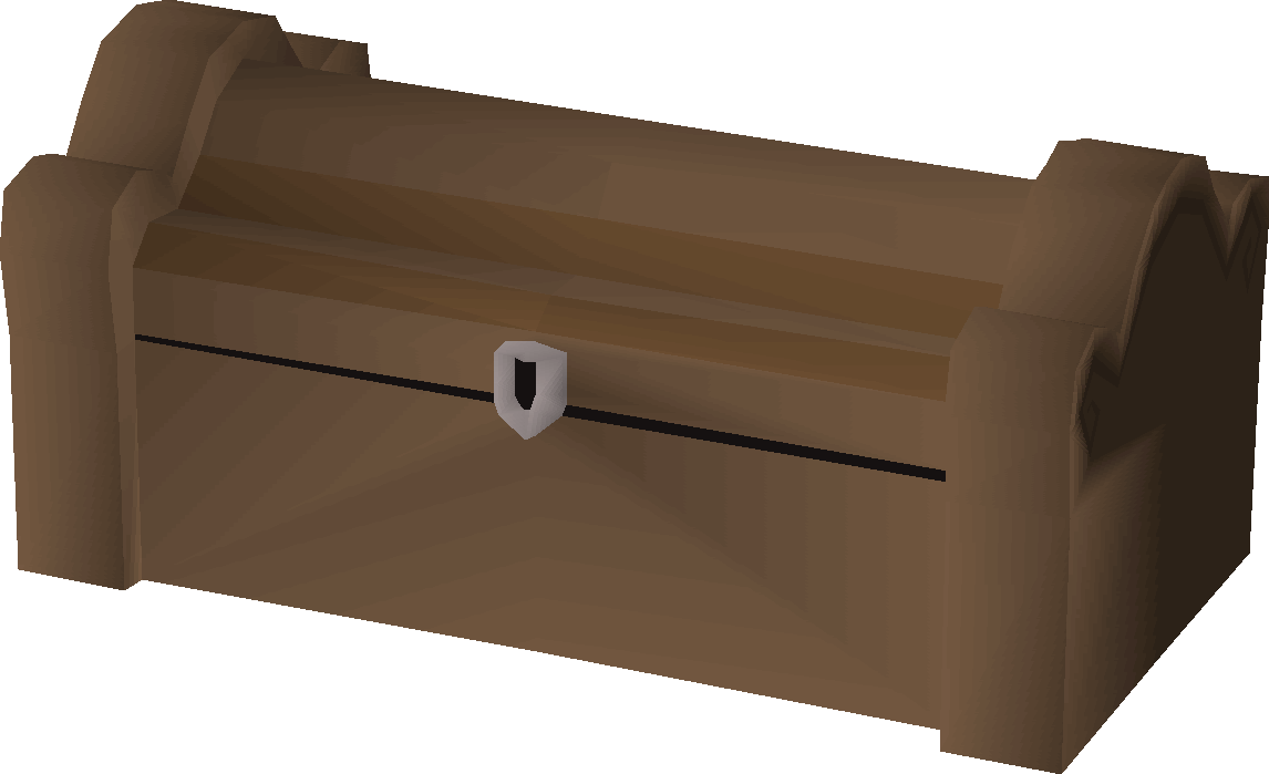 Mahogany treasure chest