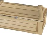 Oak treasure chest