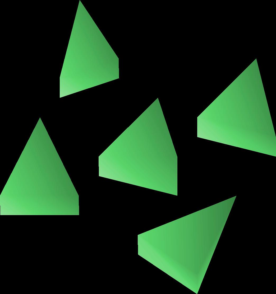 Emerald bolt tips