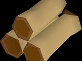 Mahogany logs