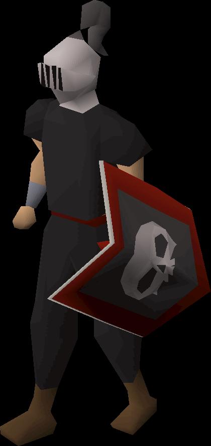 Adamant heraldic helm (Skull)