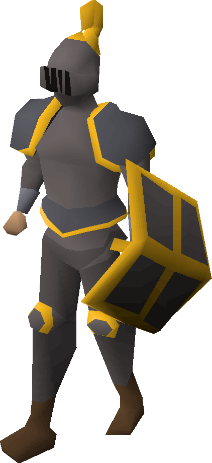 Iron gold-trimmed armour