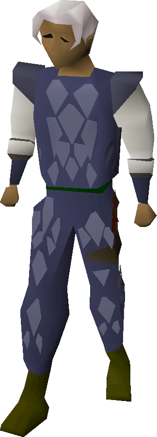 Blue d'hide armour equipped.png