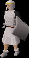 White sq shield