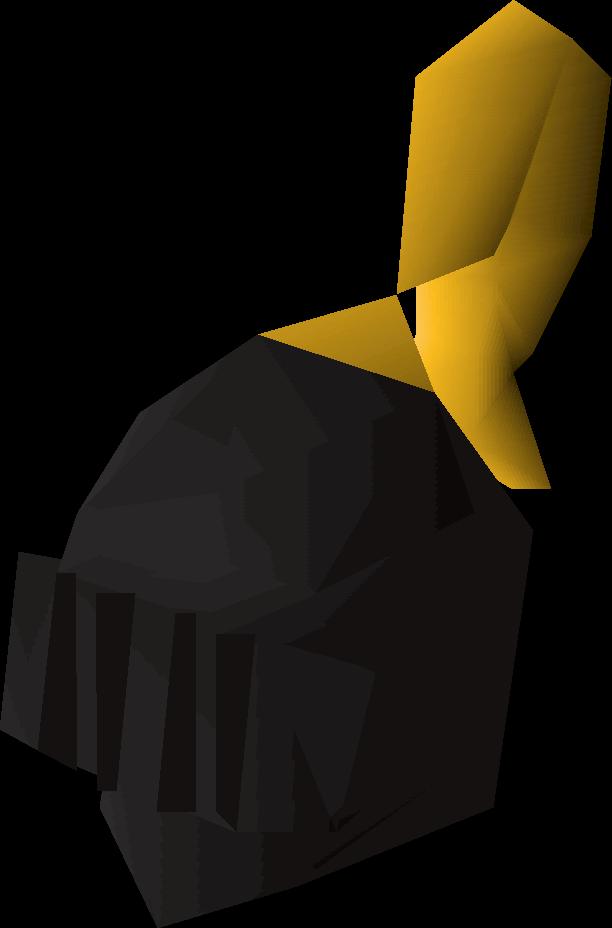 Black full helm (g)