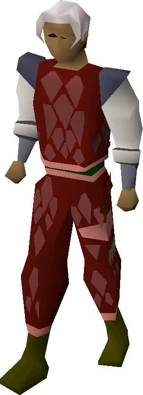 Red d'hide trimmed armour