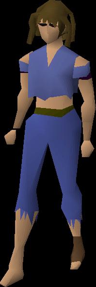 Poor looking woman