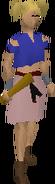 Broken axe (black) equipped