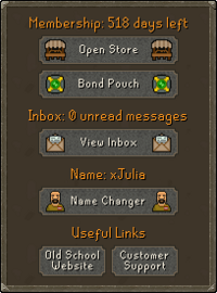 The account management tab.