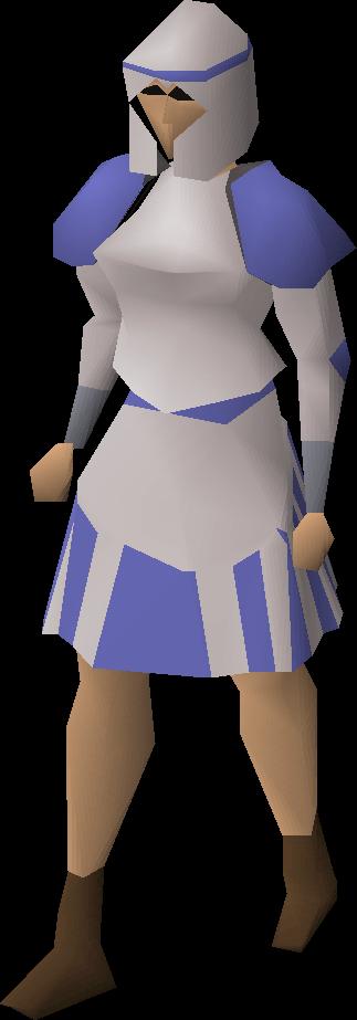 White decorative skirt