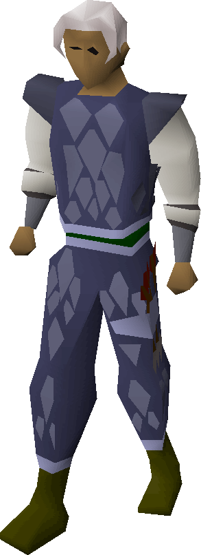 Blue d'hide trimmed armour