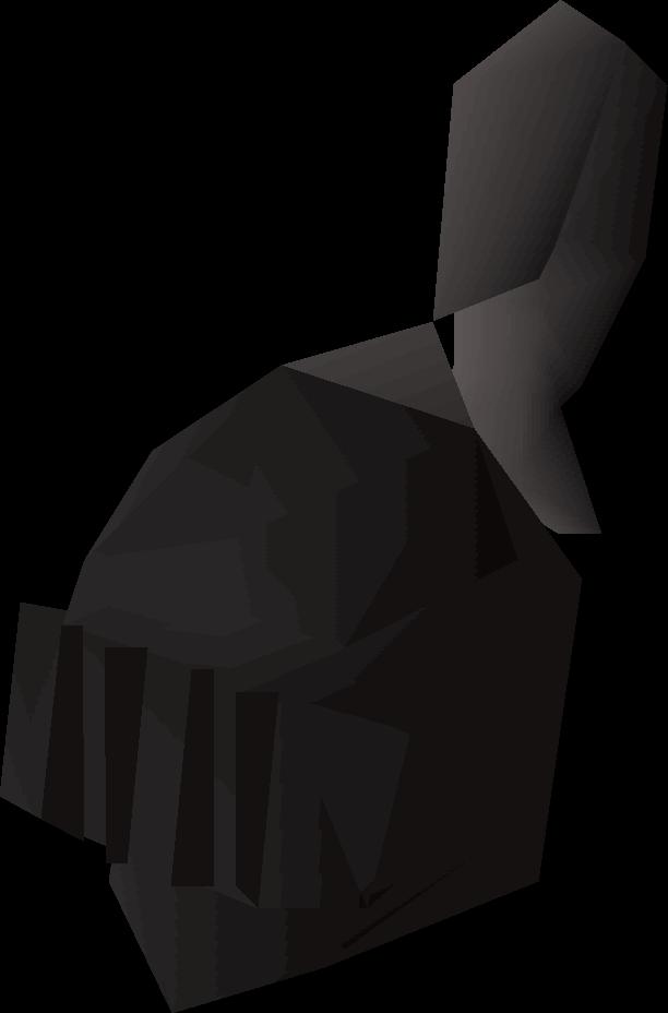 Black full helm (t)