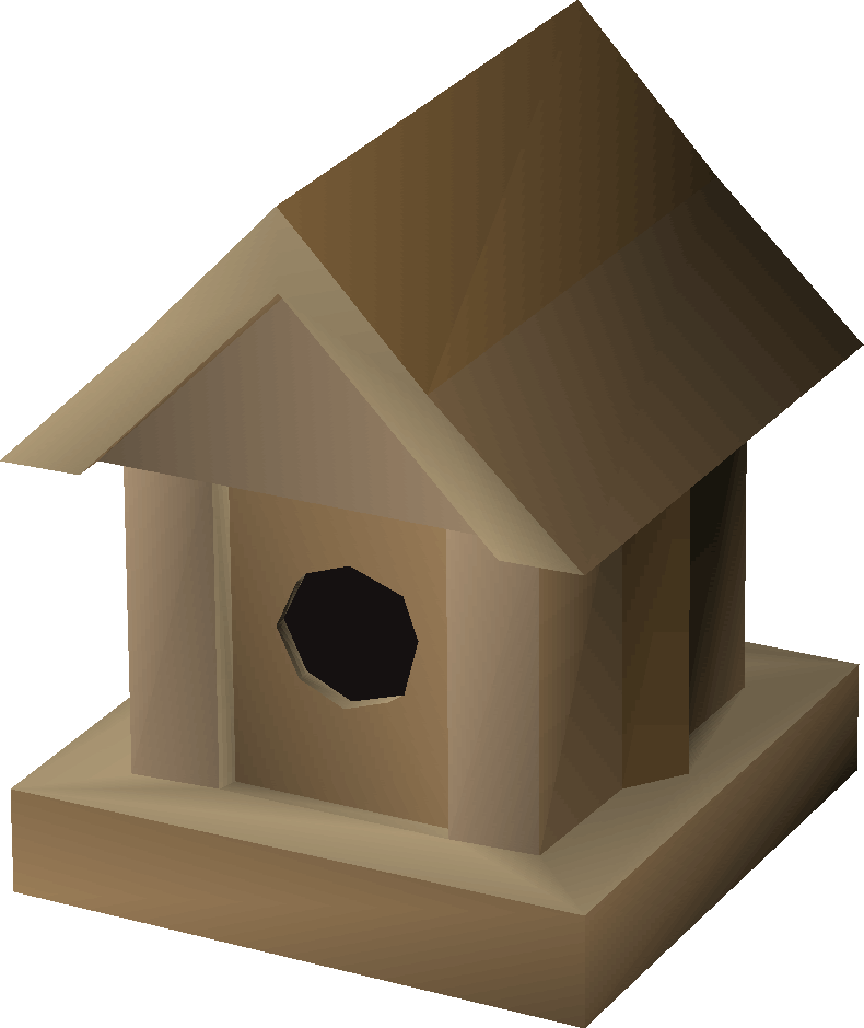 Oak bird house