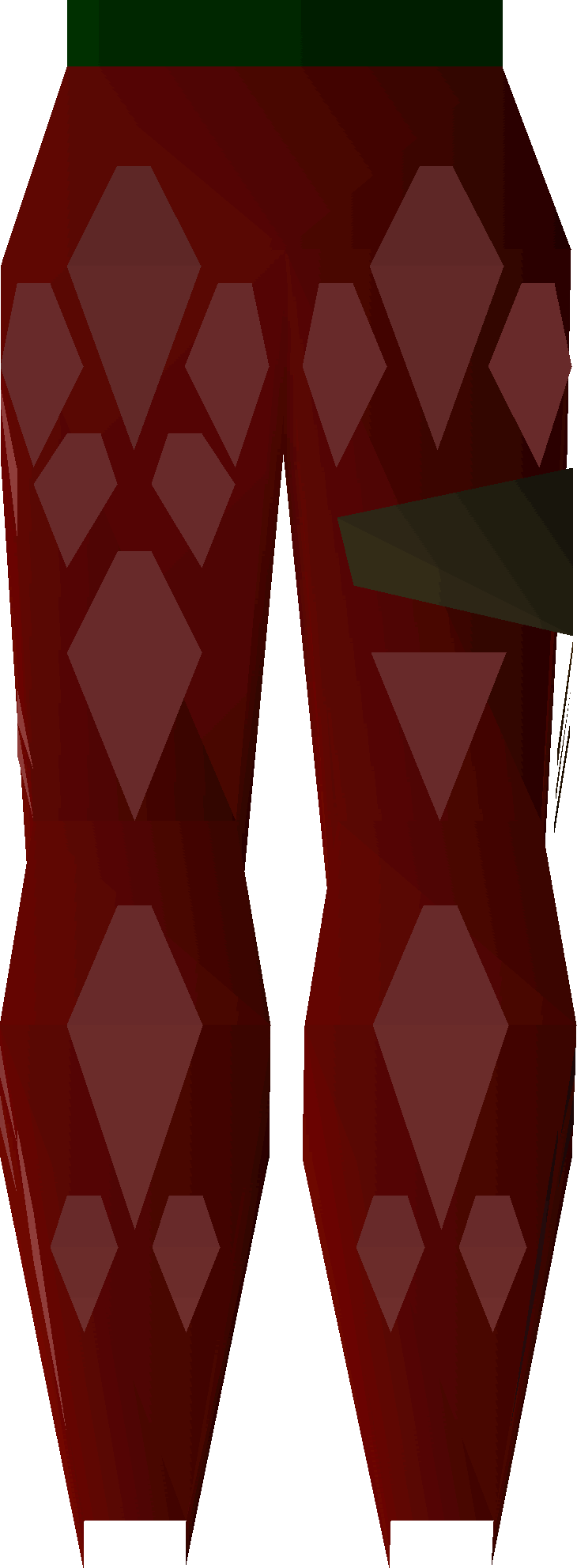 Red d'hide chaps