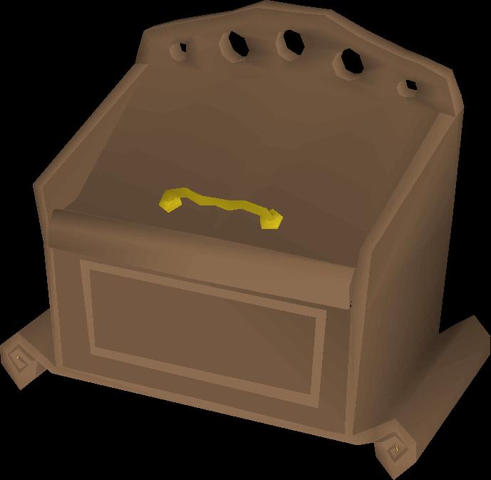 Mahogany toy box