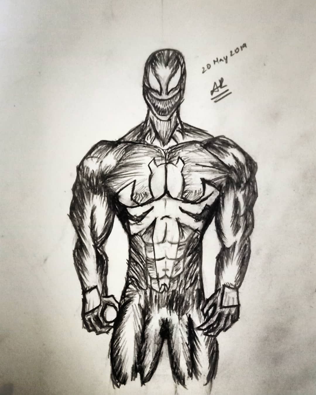 Off-topic, I gave comic book sketching a shot