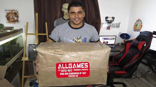 MEGA UNBOXING DA @ALLGAMES - É MUITA COISA BOA!!!!