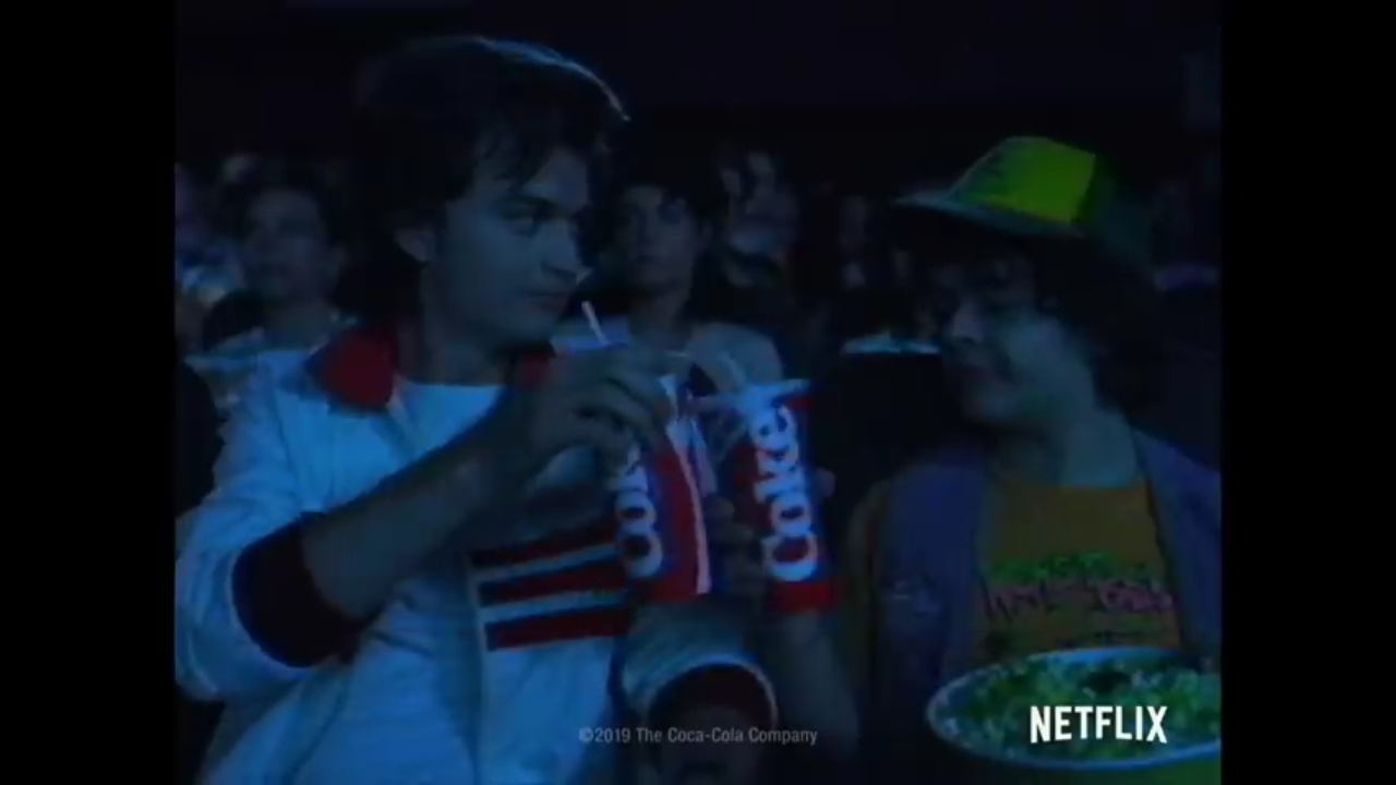 Coca-cola released a very interesting promo, which includes Starcourt's power going out