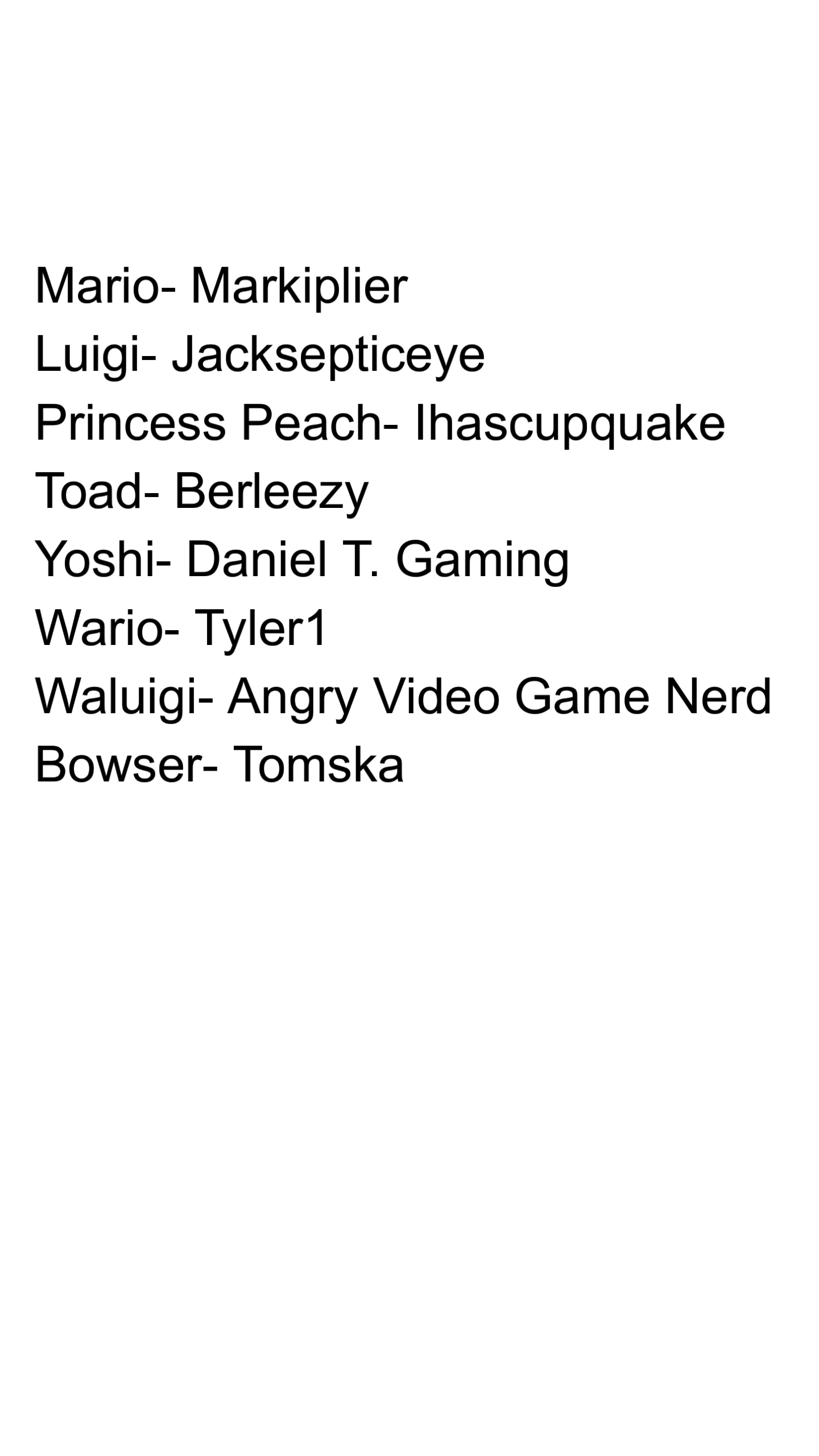 Mario Characters as Youtubers
