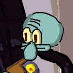 Squidward on a chair42