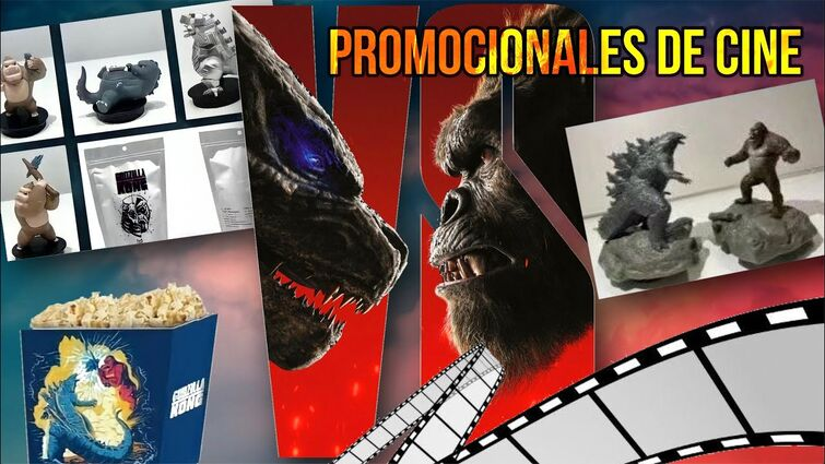 PROMOCIONALES DE CINE DE GODZILLA VS KONG