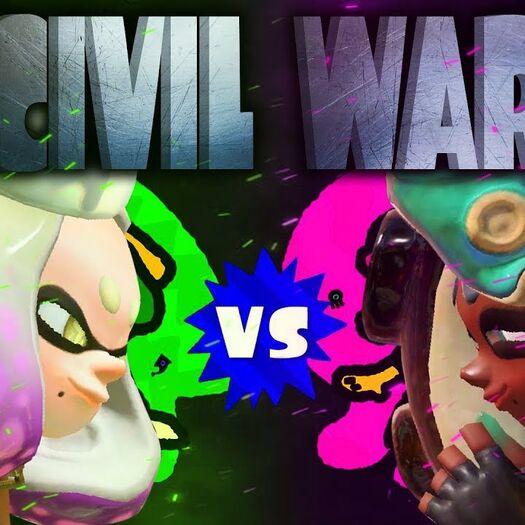 CIVIL WAR!! Inklings VS Octolings SPLATFEST! Splatoon 2 Anniversary