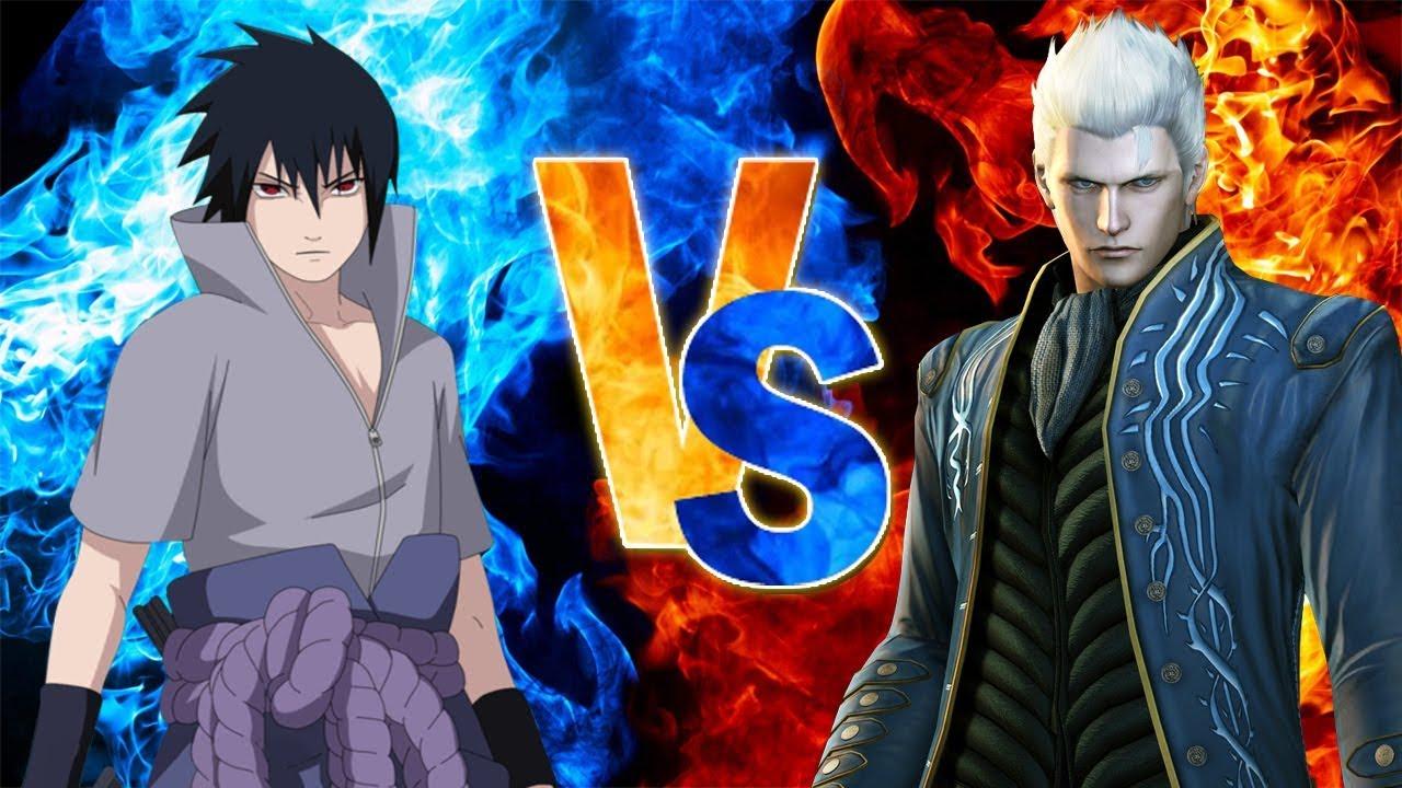 SASUKE vs VERGIL (Naruto vs Devil May Cry)   CONFRONTO