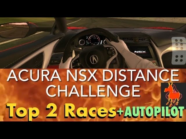 Real Racing 3 RR3 Acura NSX Distance Challenge: Top 2 Races and Autopilot