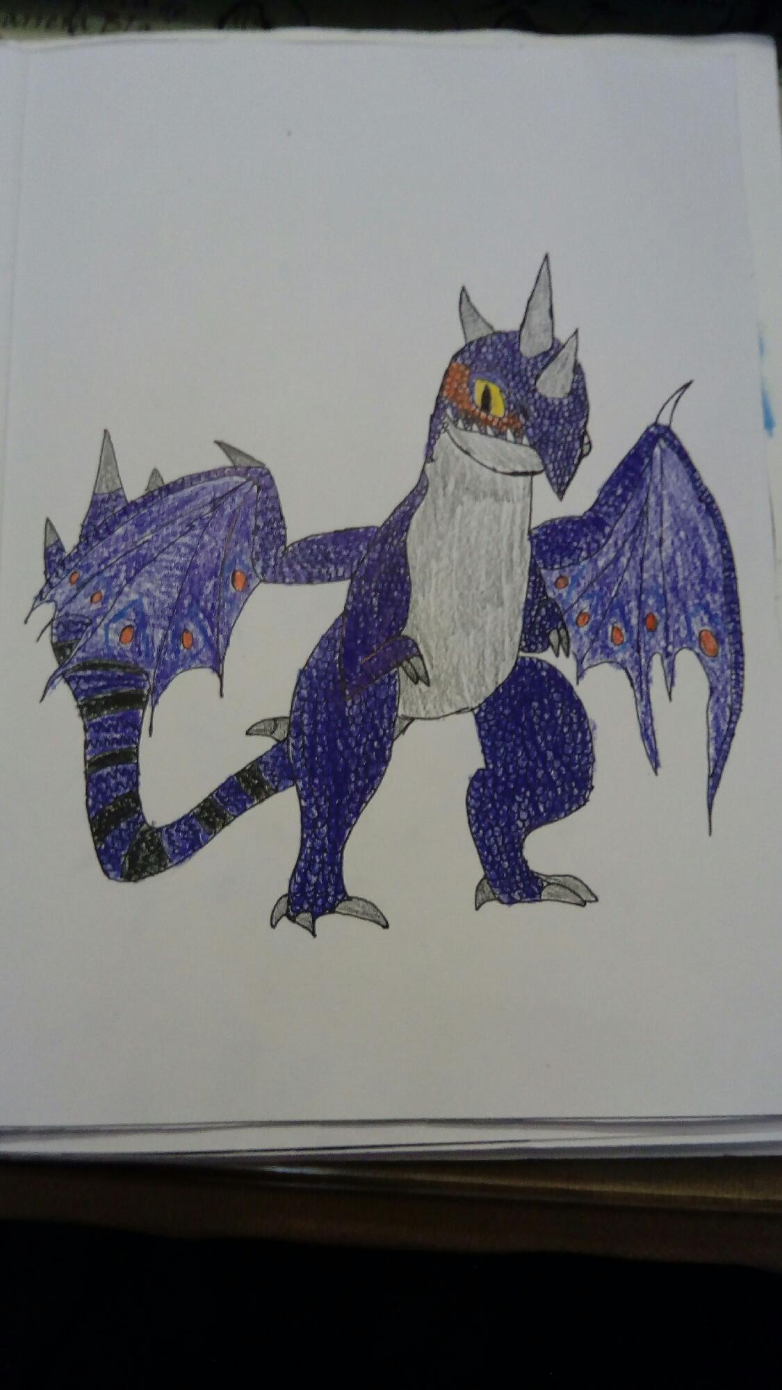 Dibujo de libro de dragones: Dramillon
