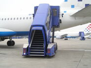 Stairs on aircraft