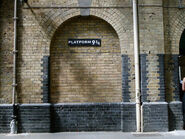Empty platform 9 and three-quarters