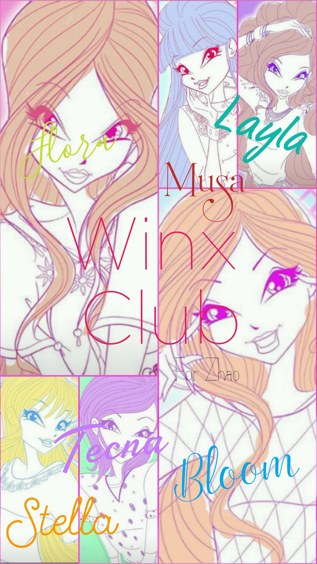 Hi! Here is one of my creations. It's an autograph of the Winx. What do you think?
