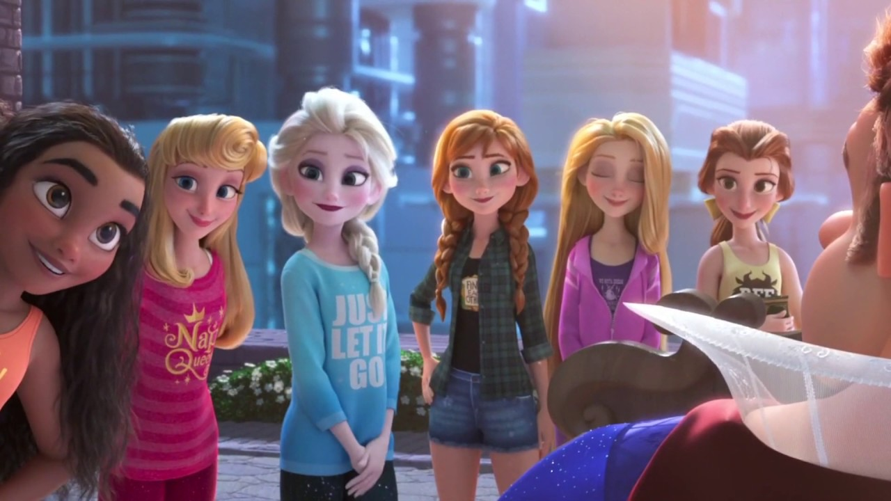 Disney Princesses save Wreck-It-Ralph
