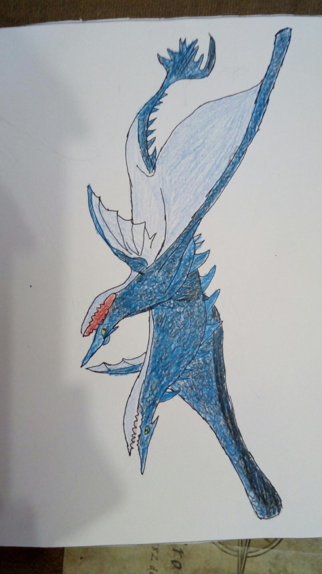 Dibujo de libro de dragones: shock marino.