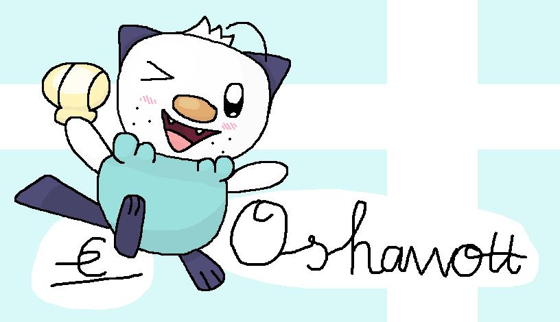 oshawott drawn in ms paint