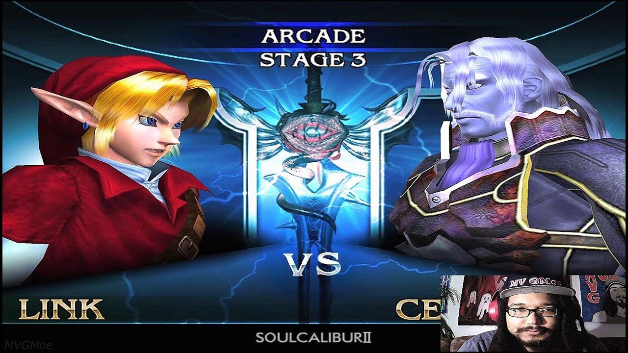 Soul Calibur II NGC (Link Arcade Playthrough) HD