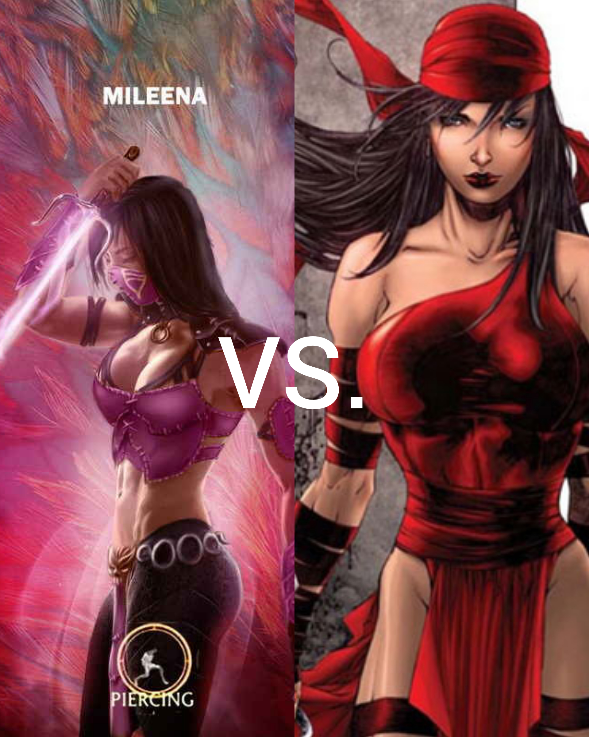 Mileena vs. Elektra: See comments for conditions.