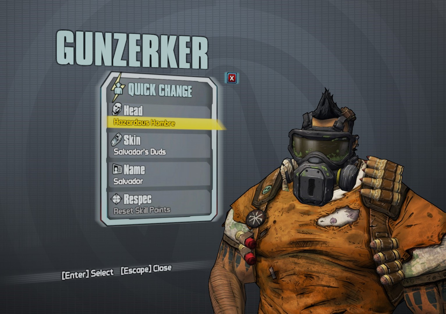 New Gunzerker head customization from Haderax the Invincible rewards