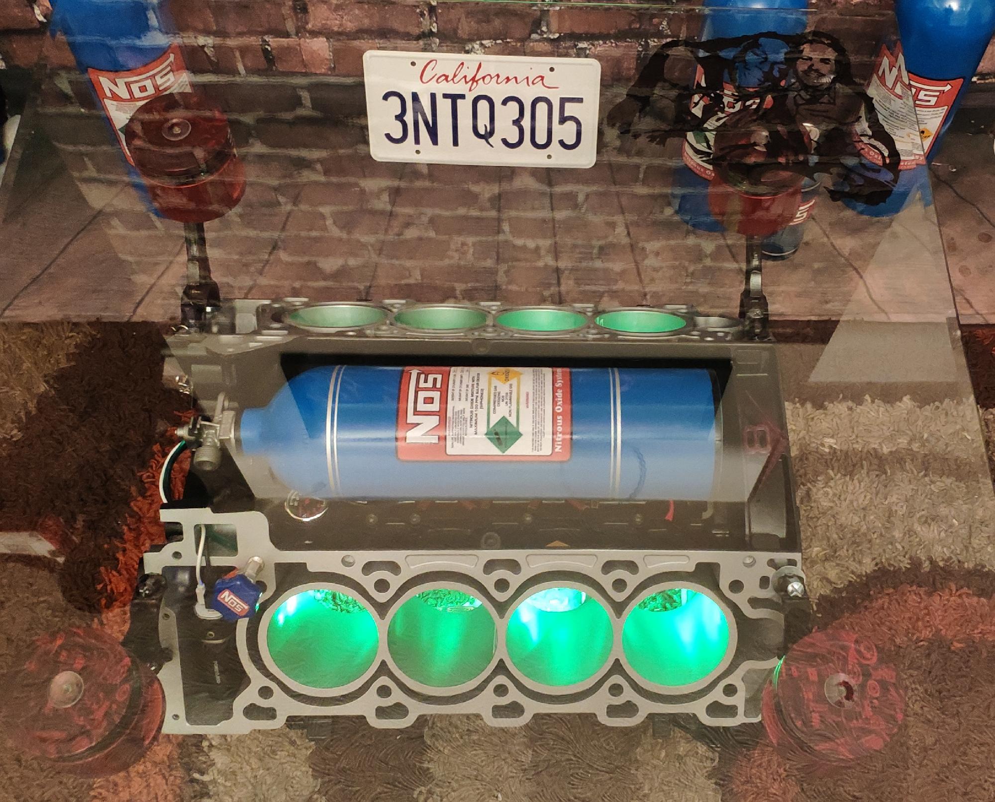 Tyrese Gibson's bespoke engine table
