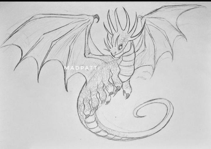 """Aquí tienen uno de mis dragones favoritos, """"gusafuego""""(reina) todo el que necesite su adaptación perfecta para estudiarlo."""