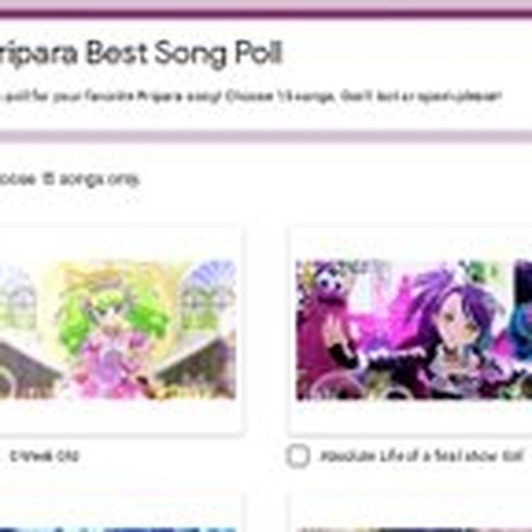Pripara song ranking on Twitter