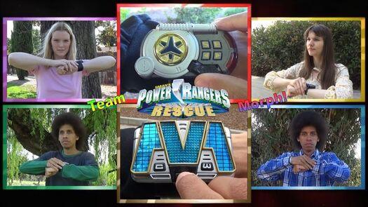 Team Morph (Power Rangers Lightspeed Rescue) *Retro Style / No VFX*