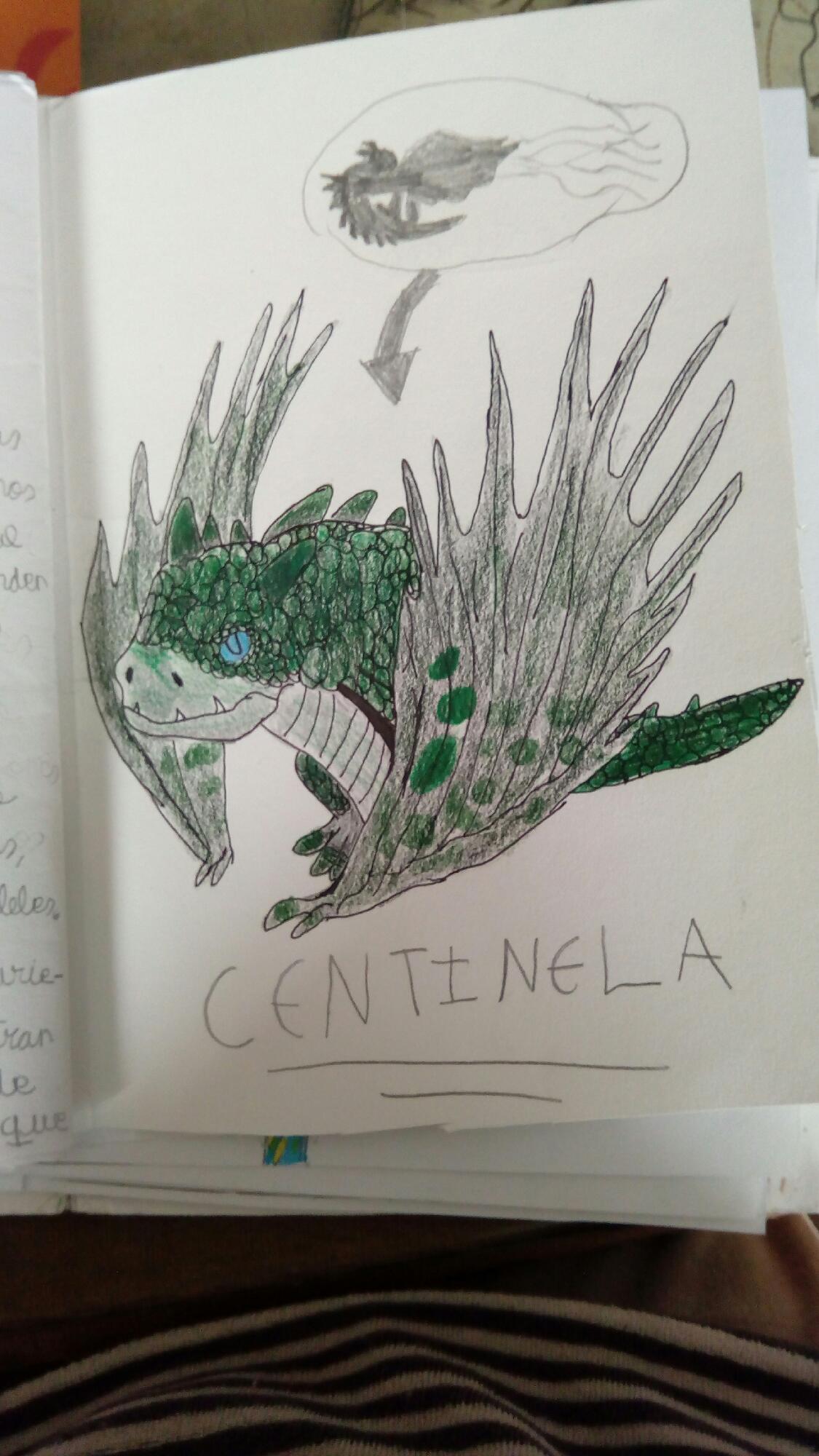 Dibujo de libro de dragones: centinela